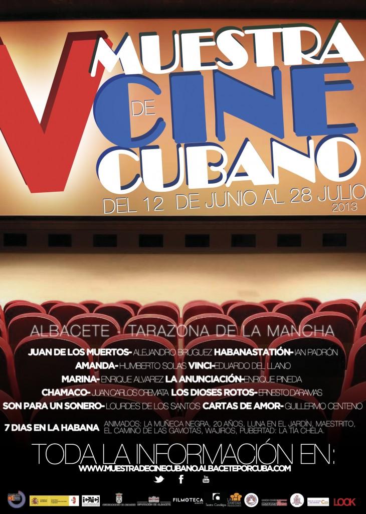 Cartel de la V Muestra de Cine Cubano en Albacete