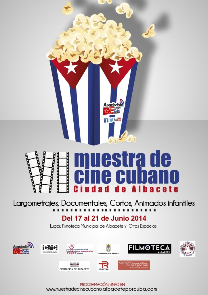 Cartel Muestra Cine Cubano Albacete 2014