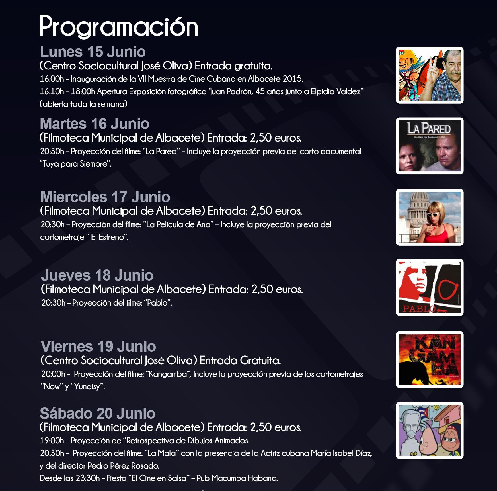 PROGRAMA CINE CUBANO